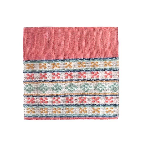 ベトナム 少数民族 ターイ族 手織り布 コースター【画像4】