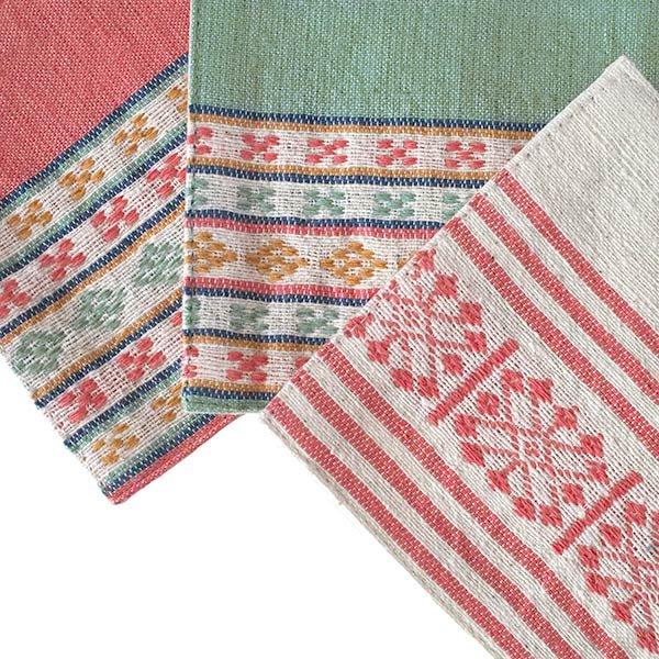 ベトナム 少数民族 ターイ族 手織り布 コースター【画像6】