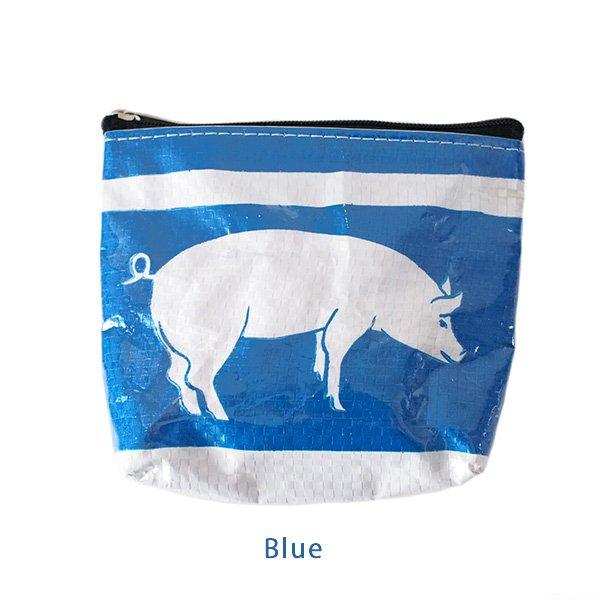 ベトナム 飼料袋 リメイク ポーチ(ブタ3色)【画像3】