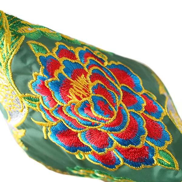 ベトナム 刺繍  花と孔雀 ポーチ( 6色)【画像3】