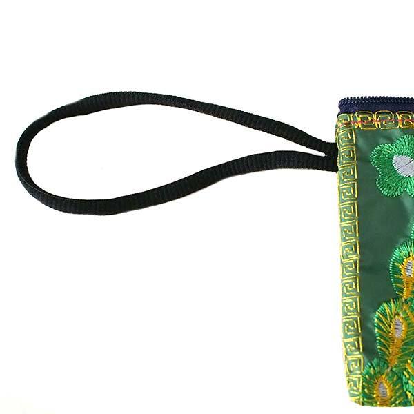 ベトナム 刺繍  花と孔雀 ポーチ( 6色)【画像6】