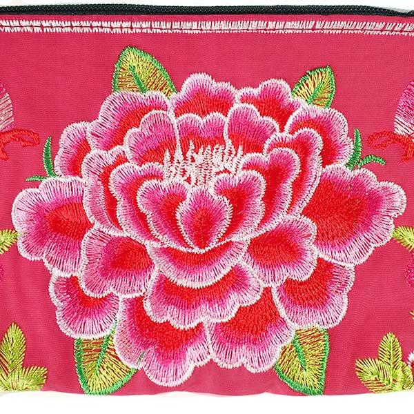 ベトナム 刺繍 ポーチ(トリと牡丹)【画像3】