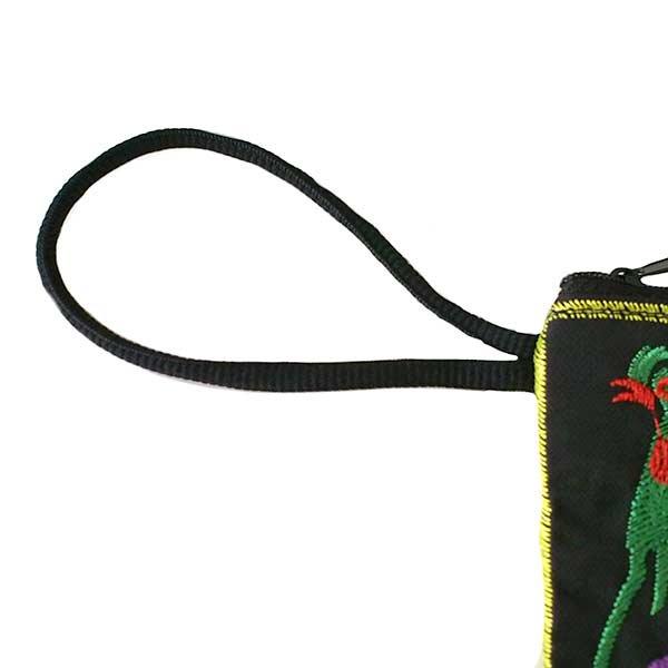 ベトナム 刺繍 ポーチ(トリと牡丹)【画像7】