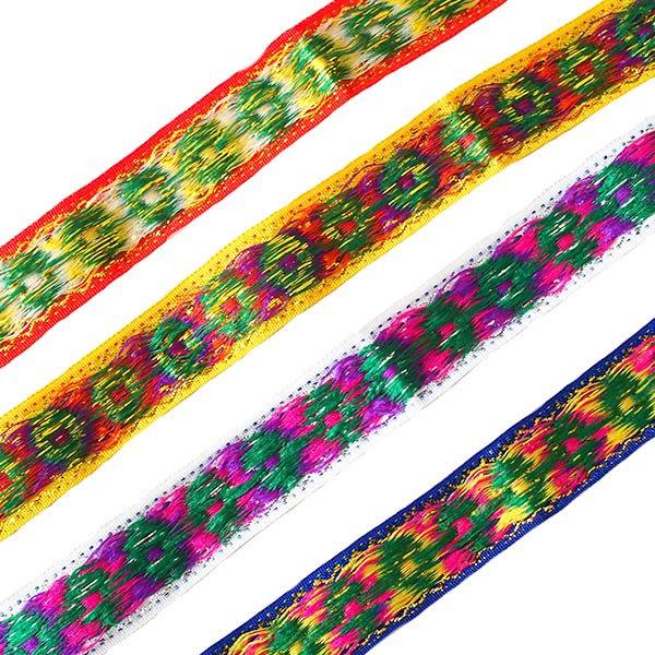 ベトナム チロリアンテープ 刺繍 4色(幅2cm/1m単位売り)【画像2】