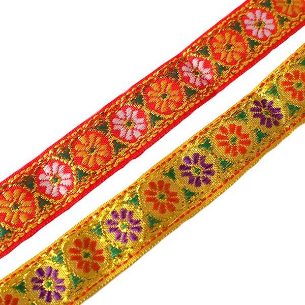 ベトナム チロリアンテープ 刺繍 4色(幅2cm/1m単位売り)【画像3】