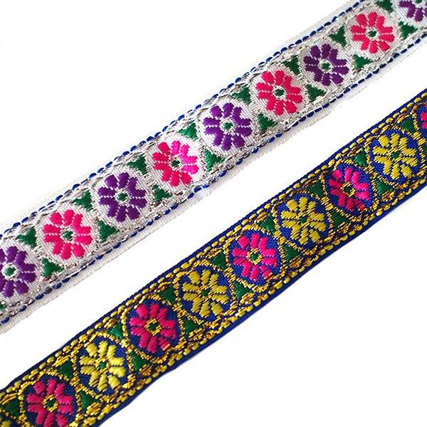 ベトナム チロリアンテープ 刺繍 4色(幅2cm/1m単位売り)【画像4】