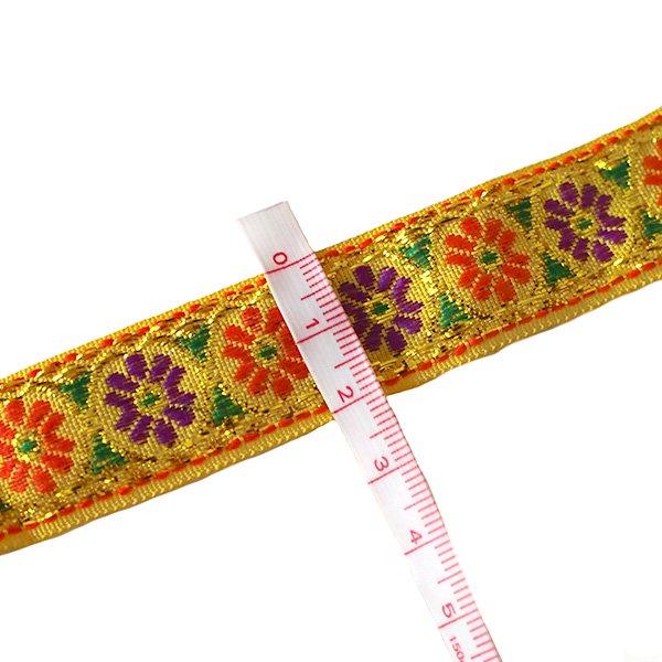 ベトナム チロリアンテープ 刺繍 4色(幅2cm/1m単位売り)【画像5】