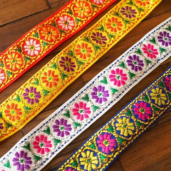 ベトナム チロリアンテープ 刺繍 4色(幅2cm/1m単位売り)【画像6】