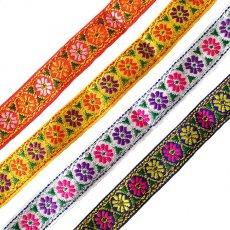 ベトナム チロリアンテープ 刺繍 4色(幅2cm/1m単位売り)