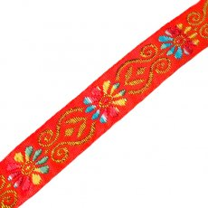 チロリアンテープ ベトナム チロリアンテープ 刺繍 オレンジ(幅2cm/1m単位売り)
