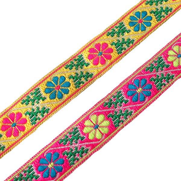 ベトナム チロリアンテープ 刺繍 2色(幅2cm/1m単位売り)