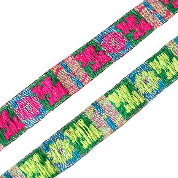 ベトナム チロリアンテープ 刺繍 2色(幅2cm/1m単位売り)【画像2】
