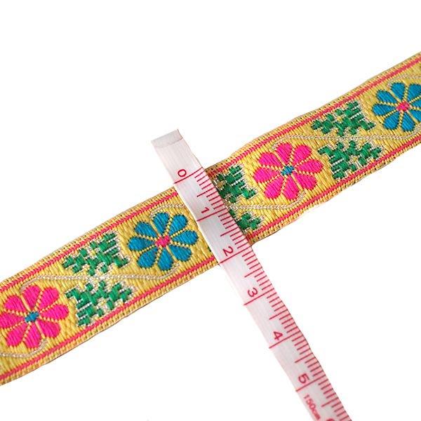 ベトナム チロリアンテープ 刺繍 2色(幅2cm/1m単位売り)【画像3】