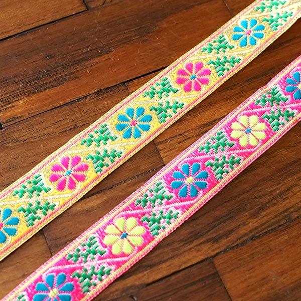ベトナム チロリアンテープ 刺繍 2色(幅2cm/1m単位売り)【画像4】