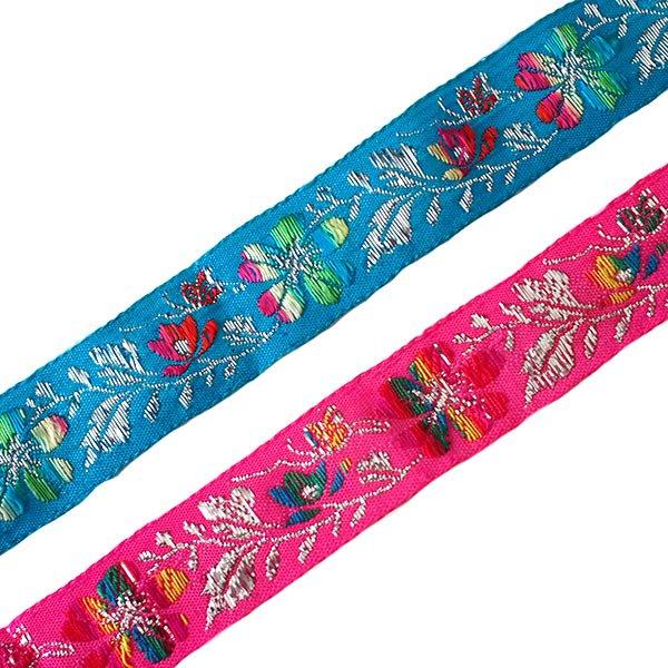 ベトナム チロリアンテープ 刺繍 2色(幅2.5cm/1m単位売り)
