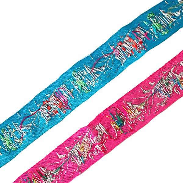 ベトナム チロリアンテープ 刺繍 2色(幅2.5cm/1m単位売り)【画像2】