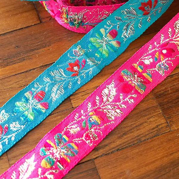 ベトナム チロリアンテープ 刺繍 2色(幅2.5cm/1m単位売り)【画像4】