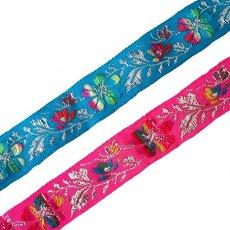 モン族 チロリアンテープ 刺繍 2色(幅2.5cm/1m単位売り)