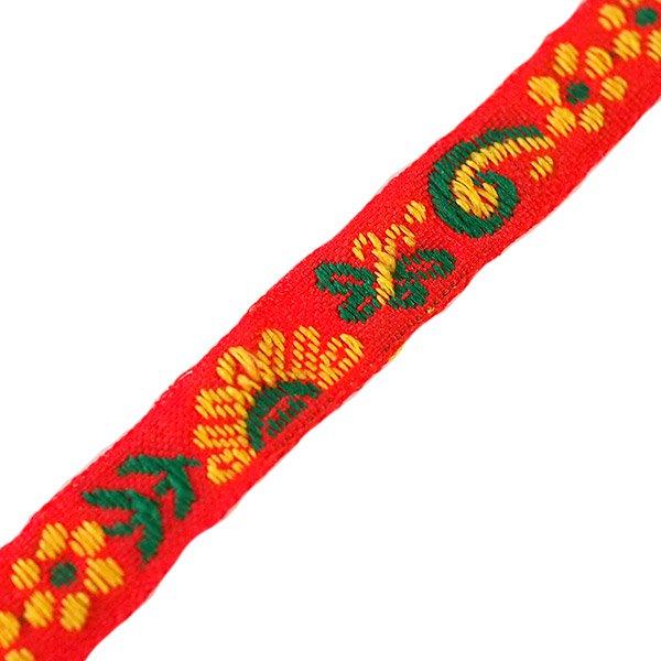 ベトナム チロリアンテープ 刺繍 レッド(幅1cm/1m単位売り)