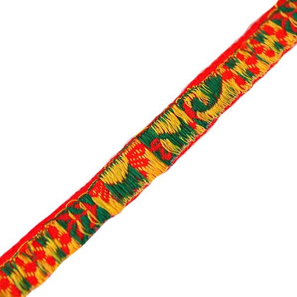 ベトナム チロリアンテープ 刺繍 レッド(幅1cm/1m単位売り)【画像2】