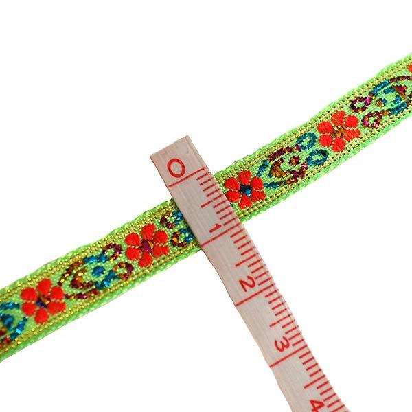 ベトナム チロリアンテープ 刺繍 キミドリ(幅1cm/1m単位売り)【画像3】