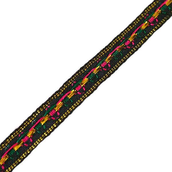 ベトナム チロリアンテープ 刺繍 ブラック(幅1cm/1m単位売り)【画像2】