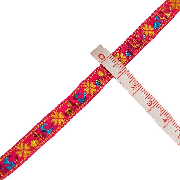 ベトナム チロリアンテープ 刺繍 ピンク(幅1cm/1m単位売り)【画像3】