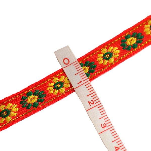 ベトナム チロリアンテープ 刺繍 3色(幅1cm/1m単位売り)【画像3】