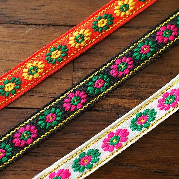 ベトナム チロリアンテープ 刺繍 3色(幅1cm/1m単位売り)【画像4】