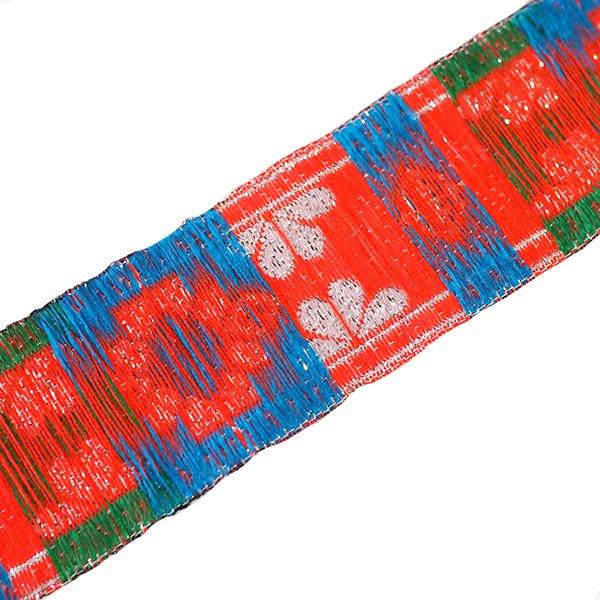 ベトナム チロリアンテープ 刺繍 ホワイト (幅3cm/1m単位売り)【画像2】