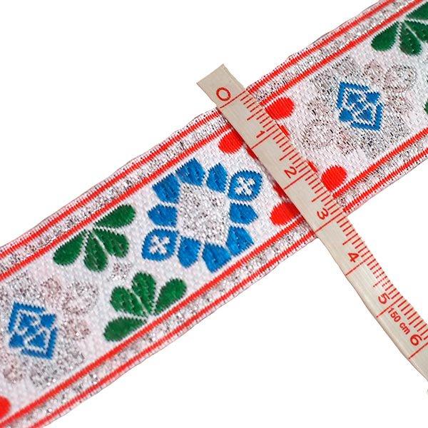 ベトナム チロリアンテープ 刺繍 ホワイト (幅3cm/1m単位売り)【画像3】