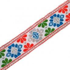 チロリアンテープ ベトナム チロリアンテープ 刺繍 ホワイト (幅3cm/1m単位売り)