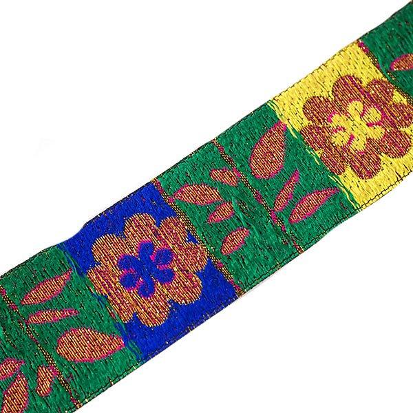 ベトナム チロリアンテープ 刺繍 ピンク (幅4cm/1m単位売り)【画像2】