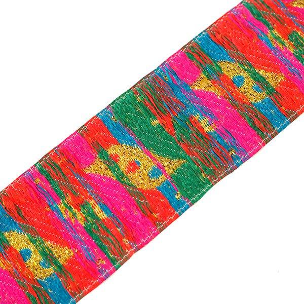 ベトナム チロリアンテープ 刺繍 イエロー (幅4cm/1m単位売り)【画像2】