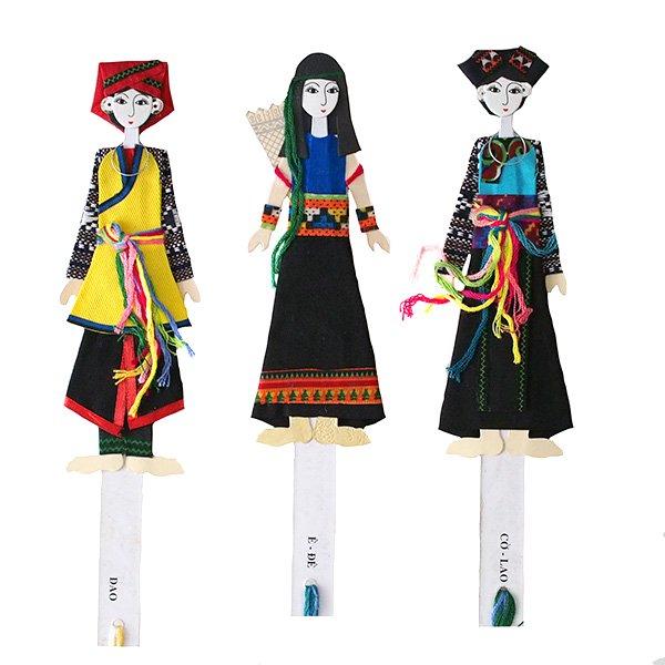 ベトナム 民族衣装 しおり(ザオ族・コラオ族・エデ族 )