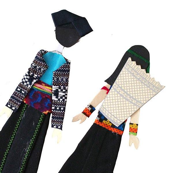 ベトナム 民族衣装 しおり(ザオ族・コラオ族・エデ族 )【画像5】