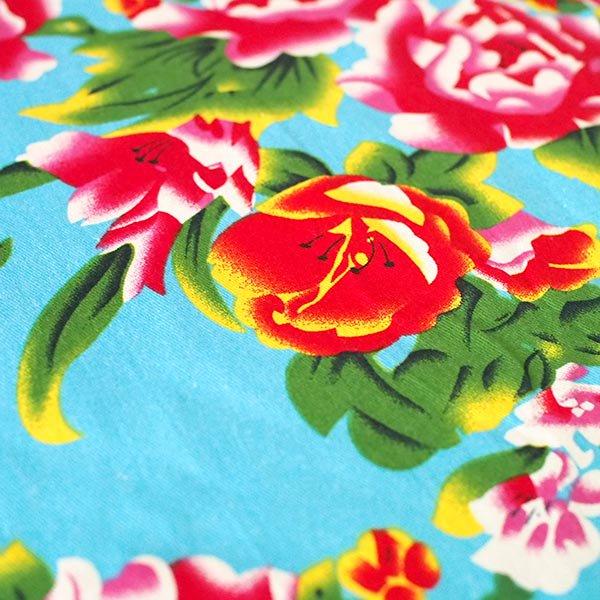 ベトナム 孔雀と牡丹 カットオフ 幅約158/ 1m売り(ミズイロ)【画像4】