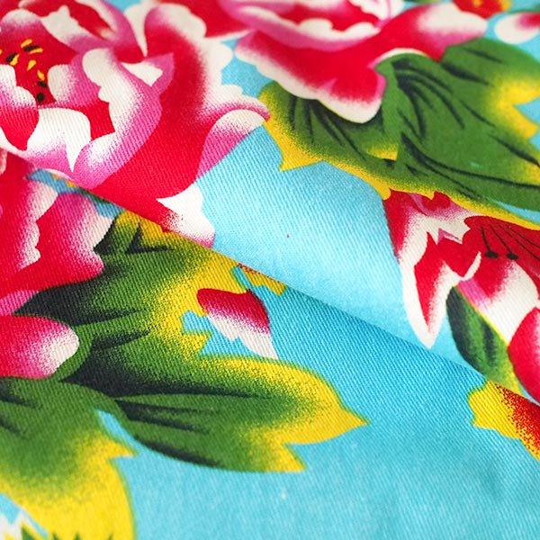 ベトナム 孔雀と牡丹 カットオフ 幅約158/ 1m売り(ミズイロ)【画像5】