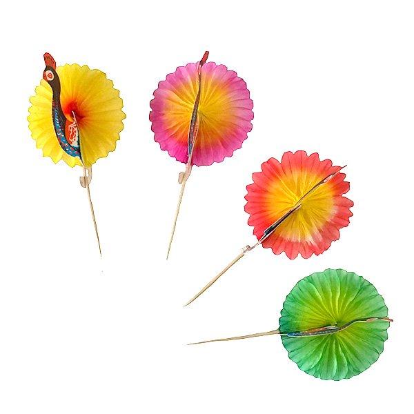 ベトナム ピーコック(孔雀) ピック(3本セット)【画像2】