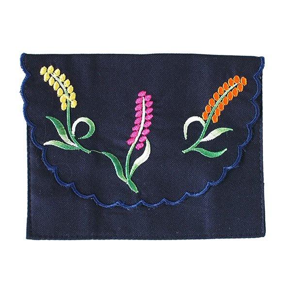 ベトナム  花 刺繍 ポケットティッシュケース(4色)【画像2】