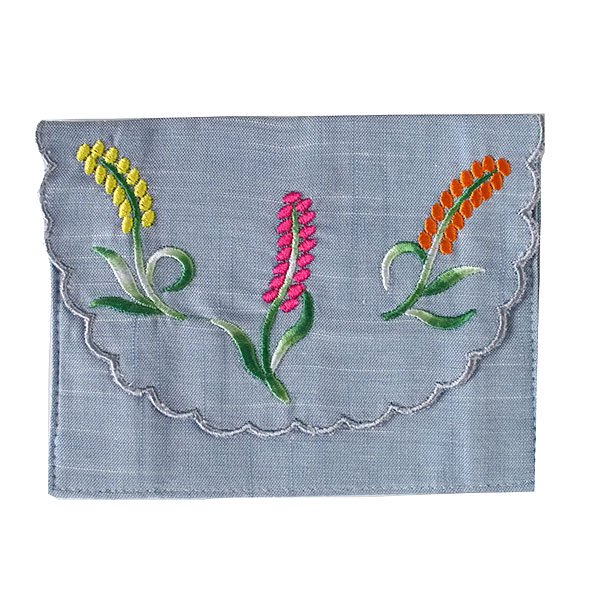 ベトナム  花 刺繍 ポケットティッシュケース(4色)【画像3】