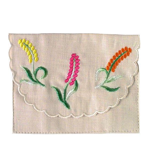 ベトナム  花 刺繍 ポケットティッシュケース(4色)【画像4】