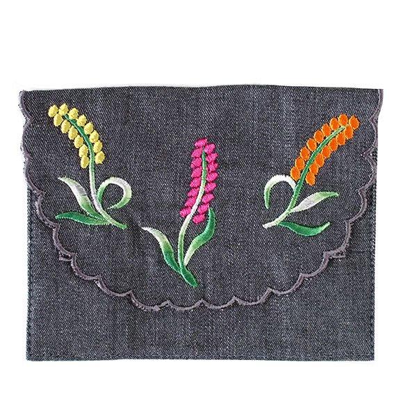 ベトナム  花 刺繍 ポケットティッシュケース(4色)【画像5】