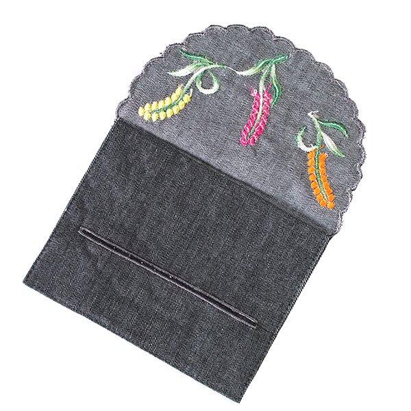ベトナム  花 刺繍 ポケットティッシュケース(4色)【画像6】