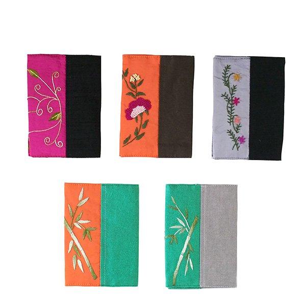 ベトナム 刺繍 ブックカバー