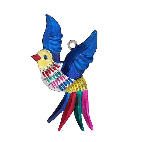メキシコ ブリキ オーナメント(小鳥)【画像2】