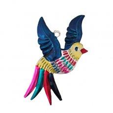 メキシコ ブリキ オーナメント(小鳥)