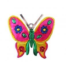 メキシコ ブリキ オーナメント(蝶々)