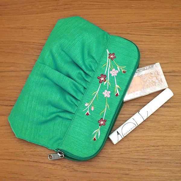 ベトナム 花 刺繍 ポーチ(5色)【画像9】