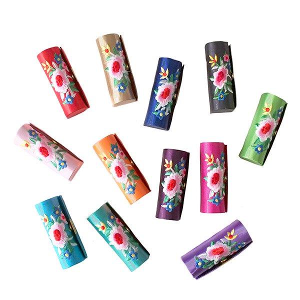 ベトナム 花 刺繍 リップケース(花 12色)